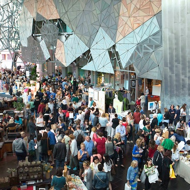 Markit is on the Sunday in Federation Square Melbourne!
